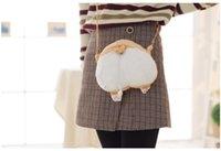 ingrosso cartoon ass-Creativo Little Girl Bag Designer Carino Keji Ass Cross Body Bag Giallo bianco carino Keji Ass Bag