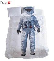cama de espacio reina al por mayor-Juego de funda nórdica de microfibra Juego de cama para niños Dormitorio de los niños Dormitorio doble decorativo Espacio Exploración Espacio Paseo Niños Regalos