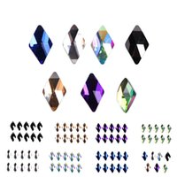 Wholesale big 3d art for sale - Group buy BIG SALE Rhombus Shining Rhinestone D Nail Decor DIY Geometric Shape Flat Back Crystal Nail Art Decorations