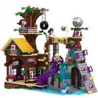 Wholesale building brick block houses toys resale online - 875pcs Adventure Camp Tree House bricks Compatible city Building Blocks girl figure friends Educational Toy For Children SH190915