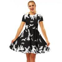 a7dd0b085 Wholesale ebay dresses resale online - 2019 EBay Hot Digital Printing  Crewneck Fashion Comfort A word