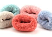 трубчатый кролик оптовых-3 пары=6 штук зима толстые кролик шерстяные носки женские зимние трубки махровые носки сплошной цвет супер толстый снег носки