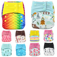 Wholesale diaper snaps for sale - Group buy Baby Diaper cartoon Mermaid animal Printed Snap button Diapers Breathable adjustable Nappy pants styles C751