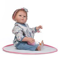 Wholesale popular toys for girls for sale - Group buy Bebe Reborn most popular new design inch cm full vinyl girl doll rooted mohair real soft touch gift for children Birthday
