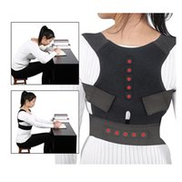 Wholesale back shoulders vest resale online - Sports Shoulder Back Magnets Posture Corrector Back Support Brace Humpback Postural Correction Belt Chiropractic Vest
