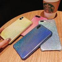 iphone bedeckt licht großhandel-Einteiliger bling Luxustelefon-Kasten für IPhone 8 Entwerfer-Telefonrückseiten-Abdeckungspolarlicht-Steigungs-Art und Weisefälle iphone x Fall