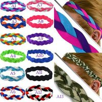Wholesale hair slips for sale - Group buy Women Europe And America Popular Motion Headband Shares Weave Yoga Hair Bands Run Bodybuilding Non Slip Hair Bands Souvenirs LJJZ343