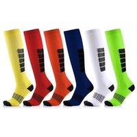 нейлоновые носки оптовых-Brothock Мужчины чулки нейлон футбол Покрытие Дезодорант Толстых чередующиеся Открытые носки Запуск защита нога Компрессионных носки