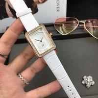 relojes suizos de cuero al por mayor-Chico nuevo. Friend H4470 Swiss Quartz Rose Gold Tiny Case Diamond Bezel Womens Watch Correa de cuero genuino Fashion Lady Relojes 7 colores