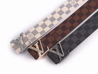 ingrosso cinture di marca superiore per gli uomini-Cinturino da uomo, cintura da uomo, cintura alta da uomo di alta qualità con fibbia e cintura. Consegna gratuita