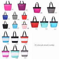 Wholesale yoga shopping resale online - 19 Colors Pink Black Handbag Shoulder Bag Classic Portable Shopping Bags Fashion Pouch for Women Ladies Tote