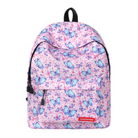 Wholesale butterfly travel bag resale online - Women s laptop backpack Women Butterfly Prints Fahion small cute backpack school College bags for teenage girls Travel back pack
