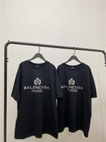 mans polo tişörtleri toptan satış-20ss lüks Paris BLAC Bales taç bahar tshirt erkek kadın tişörtleri severler polo Kısa Kollu bahar Tee Nefes Yelek Gömlek 12.16 markalar