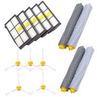 vakuumteile großhandel-Ersatzteile für Staubsauger mit 5 PC-Filter 5 Stück 3-ArmedSide Bürste 2 Stellen -Freier Debris Roller p45