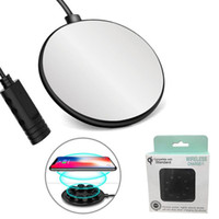 Wholesale iphone charge base for sale – best Wireless Charger Speed Suction Cup Qi Fast Charger W Quick Charging Base For iphone Plus XS MAX S9 Plus With Retail Package