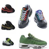koşu ayakkabıları koşu koşusu toptan satış-nike air max 95 Erkekler Womens Klasik tasarım Ayakkabı Yastık Gökkuşağı Açgözlü Eğitmenler Maxes OG QS 95 Açık Spor Sneakers Ücretsiz Ayakkabı Koşu Rahat
