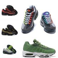 бесплатная доставка оптовых-Мужчины Женская Классическая обувь для дизайна Подушка Rainbow Жадные кроссовки Maxes OG QS 95 Уличные спортивные кроссовки Free Shoes Running Casual