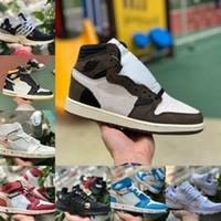 venta de zapatos tenis para mujer al por mayor-2019 white air jordan Retro off Jordans Nike Basketball Shoes Barato UNC Chicago Bred White Toe Hombres Mujeres 1s No para reventa V2 Presto Designer Sneakers