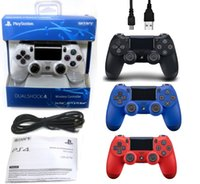 playstation ps4 al por mayor-Bluetooth Wireless PS4 Controller Gamepad Joystick Playstation para PS4 Controller con un paquete de venta al por menor dhl
