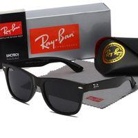 gafas de sol bandas de rayos al por mayor-2019 gafas de sol de aviador Ray vendimia piloto de banda de la marca de la protección UV400 Bans Hombres Mujeres Ben gafas de sol Wayfarer de casos al aire libre Eyewear 2140