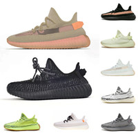 running shoes blue al por mayor-Adidas Yeezy 350 Boost V2 Nuevos colores Multicolor 1.0 2.0 sply 350 V2 Zapatos para correr Mantequilla de sésamo amarillo Bred Beluga Blue Tint Zebra Mujer zapatos para hombre