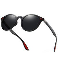 round men s eyeglasses venda por atacado-2019 marca de design dos homens da moda rodada óculos polarizados tr90 alta qualidade óculos de sol das mulheres dos homens óculos de condução uv400