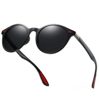 runde polarisierte gläser großhandel-2019 marke Design Mode männer Runde Polarisierte Sonnenbrille TR90 Hochwertige Sonnenbrille Frauen Männer Fahren Brillen UV400