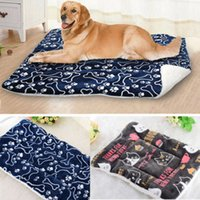 Wholesale heated beds for sale - Group buy Brand New Style Pet Dog Mat Self Heating Cat Cushion Bed Warm Coral Fleece Pad Large Blanket Mat