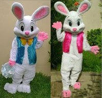 traje de coelho de páscoa venda por atacado-2019 Lojas de Fábrica EVA Material Capacete Easter coelho Trajes Da Mascote Dos Desenhos Animados Unisex Vestuário Custom made Adulto Tamanho