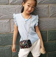 eine alte taschen großhandel-Neue Kindertasche nettes kleines Mädchen nieten Diagonalkettenbeutelgeldbeutel 1-10 Jahre alt mit Kleidung