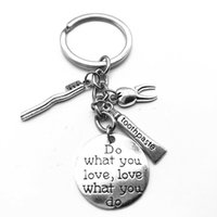Wholesale love couple keyrings resale online - Do What You Love Alphabet Tag Toothbrush Toothpaste Tooth Charm Keyring Dental Dentist Health Hygiene Keychain Creative Couple Jewelry Gift