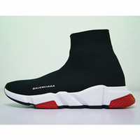 Wholesale boots heels dress for sale - Group buy Designer Sneakers Speed Trainer Black Red Gypsophila Triple Black Fashion Flat Sock Boots Casual Shoes Speed Trainer Runner With Dust Bag S5
