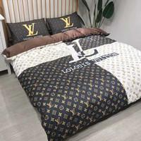 yeni yatak odası toptan satış-Markalı Mektup Baskı Sıcak Pamuk Yatak Takımları Tasarımcı Yeni Ev Yatak Odası% 100% Pamuk Ev Yatak Yorgan 200 * 230 CM
