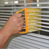 ingrosso lama air brush-Utile Microfiber Spazzola per la pulizia delle finestre aria Condizionatore Duster mini pulitore per persiane con spazzola lavabile in panno per pulizia con lama veneziana lavabile