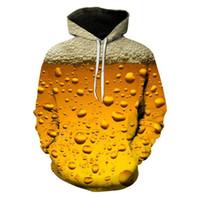 neuheit plus größen-sweatshirts großhandel-Dropship 3D Fitness Hoodie Bier kühlen Party Print Sweatshirt beiläufige Neuheit Punk Hoodies Plus Size Cosplay Street Männer Frauen