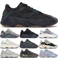 Wholesale white leather men running shoes resale online - Utility Black V2 Kanye West Geode Static Men Running Shoes Vanta Inertia Runner Wave Solid Grey Women Sports Sneakers US