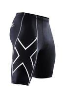 leggings nylon homens venda por atacado-Atacado-Shorts de Corrida dos homens Marca Sportswear Masculino Compressão Calções Apertados Ginásio Execução Calcinhas Wicking leggings Frete grátis