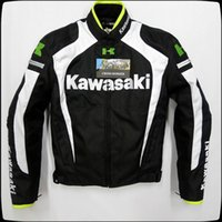 Wholesale kawasaki motorcycle jacket resale online - New style KAWASAKI Men s Motorcycle riding jackets Racing clothing With removable cotton gall and protective gear white black