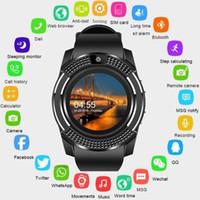 akıllı dokunmatik ledli saat toptan satış-Gejian Akıllı İzle Bluetooth Dokunmatik Ekran Android Su Geçirmez Spor Erkekler Ve Kadınlar Ile Akıllı İzle Kamera Sim Kart Yuvası Pk Dz09 T7190617