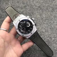 montres de sport pour hommes marques achat en gros de-Montre de poignet pour hommes multifonctions de haute qualité de marque de luxe haut mouvement à quartz cadran grand montre de sport montre militaire