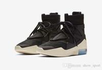 sapatos de homem b venda por atacado-Mais novo medo de deus 1 homens sapatos fog designer basquete mens sapatos de basquete luz preto vela sapatos de basquete sports formadores mens tênis