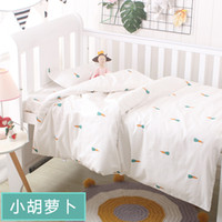 Wholesale baby girl crib bedding sets for sale - Group buy 3Pcs set Baby Bedding Set Crib Sets cute Pattern Baby Cot Set Include Duvet Cover Pillowcase Flat Sheet for newborn girls boys