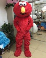 ingrosso costumi di pelliccia del fumetto-2017 Hot vendita diretta di alta qualità lunga pelliccia Elmo costume della mascotte del costume del costume del fumetto Elmo spedizione gratuita