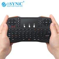 câble espagnol achat en gros de-2.4G Sans Fil Touchpad Air Mouse Keyboard USB Étendre Le Récepteur Câble Pour PC Smart TV Russe Anglais Espagnol I8 Plus Claviers