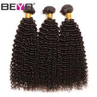 cabelo bronzeado de 28 polegadas venda por atacado-Weave do cabelo Castanho escuro Afro Kinky Curly cabelo humano Pacotes brasileiro Pacotes Remy extensão do cabelo 3 Pcs / Lot 10-26 Inch # 2 Cor Beyo