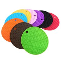 Wholesale slip resistant coasters resale online - Table Silicone Pad Silicone Non slip Heat Resistant Mat Coaster Cushion Placemat Pot Holder Kitchen Accessories Cooking Utensils A05