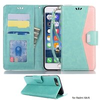 geldbörse telefon fallmix großhandel-Brieftasche für Xiaomi Redmi 6 Pro Redmi 6A / 6 Xiaomi A2 Lite Mix 2S 6X / Mi A2 PU Leder Flip Handytasche