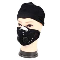ingrosso maschera viso traspirante-Outdoor Anti-polvere Ciclismo Maschera Anti-inquinamento Filtro Aria Traspirante Bici Bicicletta Equitazione Escursionismo Maschere Uomini Donne