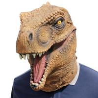 ingrosso copricapo per gli uomini-1 Pc Maschera di Halloween Fantasia Emulsione Vestito Puntelli per feste Copricapo di dinosauro Copricapo per uomini e donne (Dinosauro)