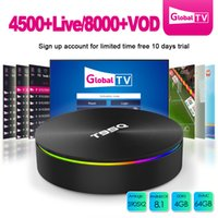 Wholesale best google tv resale online - Best iptv box Media Player S905X2 Sunvell T95Q Android tv box GB GB GB Dual Band AC Wifi iptv portugal spain europe live supported